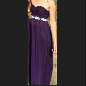 Plum gown